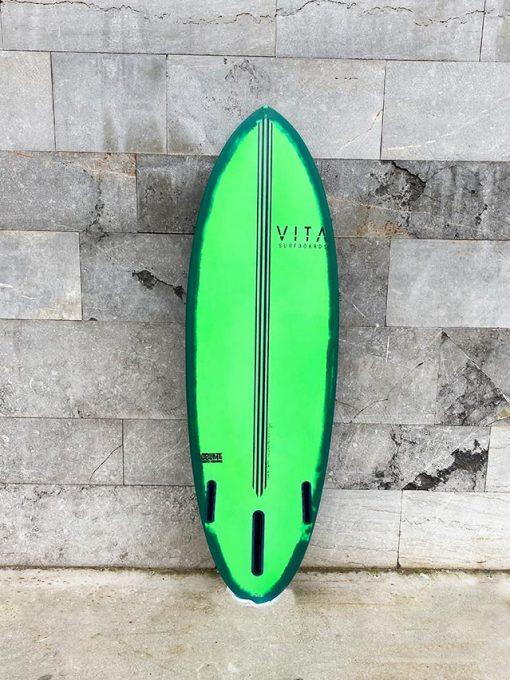 tabla surf vita jellyfish stock tintada verde 5`5